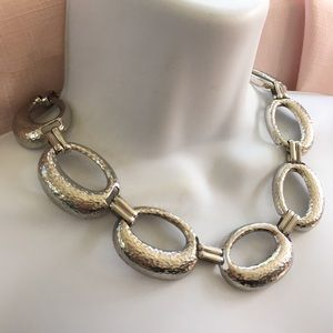 BILL BLASS Silvertone Statement Necklace